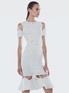 Image of Vestito bianco dalla sirena Cut Out Vestiti estivi da donna