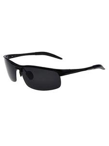 Chic lunettes des hommes grises Semi-cerclé color-block casual