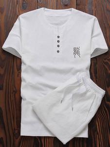 Image of Abbigliamento sportivo set vestibilità Slim scollatura con Intag