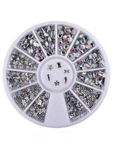 Image of Adesivi unghie argenti Dito glitterati donna di materiale acrilico festa