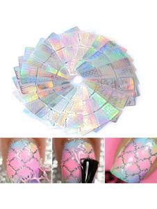 Image of        Adesivi unghie Dito del Piede monocolore per adulti 12-Pezzi di