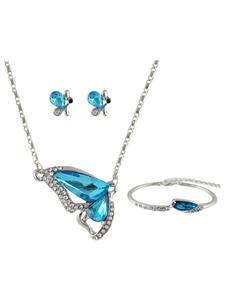 Image of Collana della collana delle donne Collana pendente blu della far
