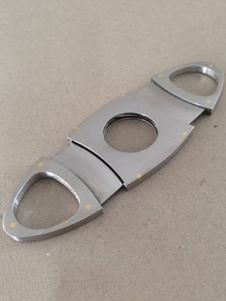 Image of Regalo personalizzato del partito d'argento di forma ovale dell'acciaio inossidabile della taglierina del sigaro