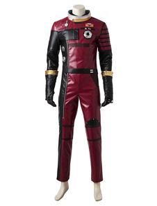 Image of Prey videogioco costume cosplay di Morgan 2 pezzi rossi Carnevale