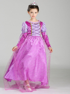 Image of Principessa Principessa di Sofia Princess Tangled Carnevale Costume Tulle Lilac Princess Dress Carnevale