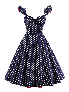 Image of Abbigliamento vintage medio donna con scollo a cuore smanicato pieghettature