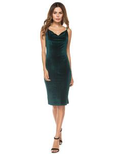 Image of Vestiti verdi da bodycon abiti da sposa senza maniche Velet Vestiti estivi da donna