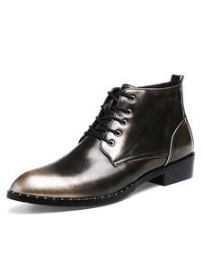 Image of Stivali uomo con blocchi di colore chic & moderni casuale pU a punta