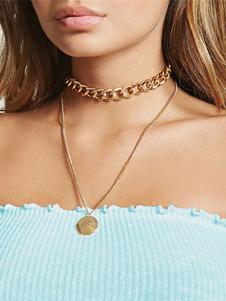 Image of Collana di moda in lega d'acciaio chic & moderna catenine collana donna