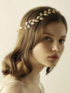Image of Copricapo in lega d'acciaio oro donna anniversario accessori acc