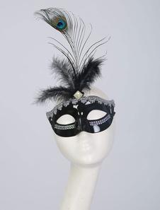 Image of Maschera nera Carnevale&Carnevale film per adulti per donna di materiale sintetico