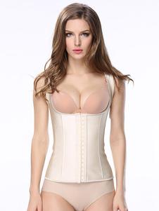 Body Shapewear Top sin mangas Square Neck Nude que adelgaza la talladora de la cintura del Underbust