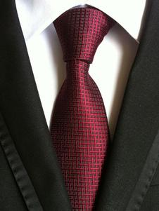 Image of Cravatta abito formale artistico rossa di poliestere