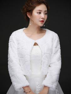 Image of Coprispalle per la sposa avorio accessori a girocollo maniche lu