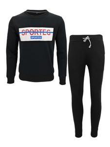 Image of Abbigliamento sportivo vestibilità Slim set con stampe lettere c