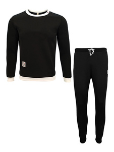 Image of Abbigliamento sportivo vestibilità Slim set bicolore con scollo