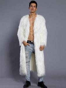 Abrigo con cuello en V Color liso Estilo moderno