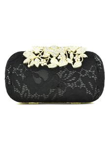 Bolsa de ceremonia con cadena para cóctel estilo moderno de mezclado de algodón de hojas