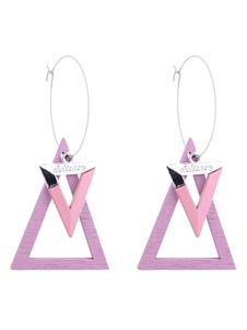 Image of Orecchini bucato triangolo orecchini pendenti