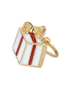Image of Prigioniero dell'orecchino delle donne della lega impressa regalo di Natale della clip dell'orecchio bianco