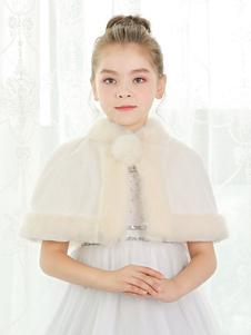 Image of Coprispalle per la sposa accessori avorio bottoni in pelle con colletto alla coreana