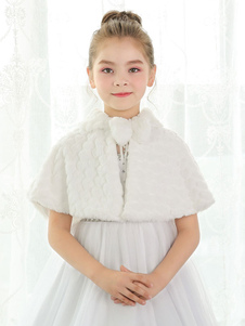 Image of Coprispalle da sposa avorio con colletto fiocchi accessori