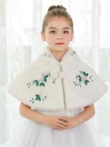Image of Coprispalle per la sposa accessori avorio con pendenti con colletto