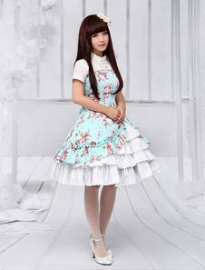 Image of Etnico increspato maniche arruffate Lolita Dress per donne