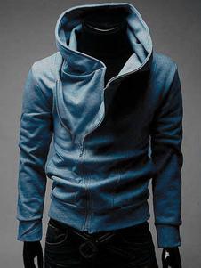 Abrigo con capucha con cremallera mangas largas