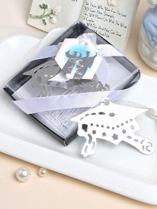 Image of Segnalibro argento uniformi scolastiche classico & tradizionale 1 Pezzo fiocchi con frange acciaio inossidabile