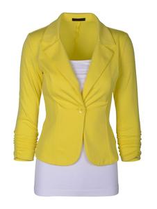 Image of Maniche lunghe tasche mini vestito giacca donna Slim Fit Giacca Casual Giacca