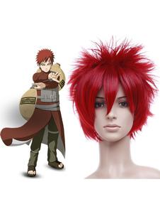 Image For Parrucche rosse da 35 cm per cosplay di Naruto Carnevale