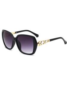 Chic lunettes des femmes color-block Cerclées ornement métallique