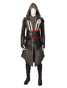 Image of Ispirato da Assassin Creed Film Cal Lynch Aguilar Michael Fassbender Cosplay Costume Carnevale