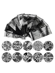 Image of Adesivi unghie neri di plastica donna con stampe Dito del Piede