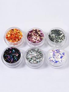 Image of Adesivi per unghie trasparenti Dito glitterati per adulti 6-Pezzi adornato di perli fuori