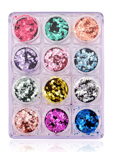Image of Adesivi per unghie trasparenti di plastica per adulti glitterati Dito del Piede