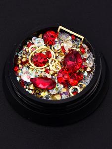 Accesorio de la belleza del clavo Rhinestone metálico Jelly Gem Glitter Bead Nail Art Ornament En envío al azar
