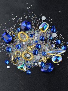 Image of Adesivi unghie altro vetro per adulti con cristalli glitterati Dito del Piede