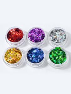 Image of Adesivi per unghie trasparenti Dito monocolore per adulti adornato di perli fuori
