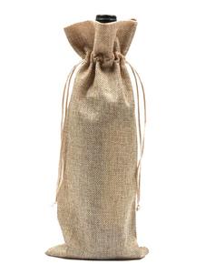 Image of Sacchetti di bottiglia di vino Champagne Covers di lino sacchett