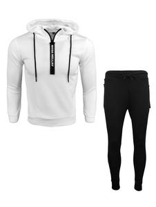 Image of        Abbigliamento sportivo set vestibilità Slim incappucciato con st
