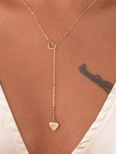 Image of Collana in lega d'acciaio chic & moderna con decori in metallo fuori