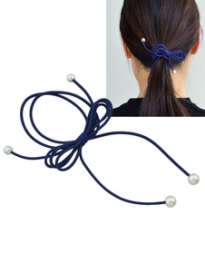 Image of Acconciatura capelli monocolore perle Cerchietto chic & moderna fuori di viscosa