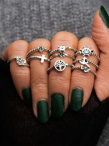 Image of Anello anello argento di Punk fuori in lega d'acciaio
