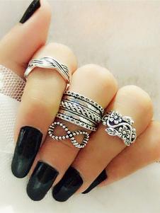 Image of Anello anello argento di Punk crociera in lega d'acciaio
