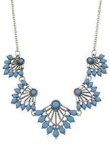 Image of Collana di moda blu chic & moderna collana festa in lega d'acciaio
