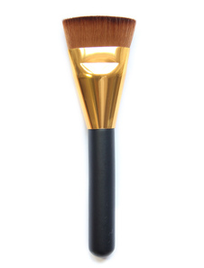 Cepillos de maquillaje de mujer Cepillo de belleza de madera marrón oscuro