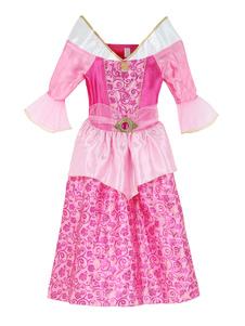 Image of Costumi Cosplay fiabe set Halloween abito bambina rosa