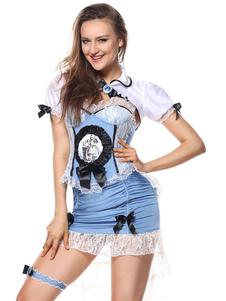 Image of Costume Alice in Wonderland per donno per adulti set blu di poli